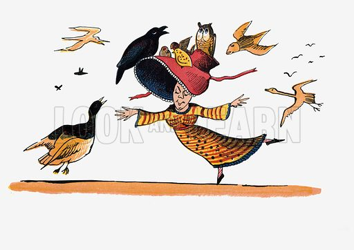 There was a Young Lady whose bonnet came untied when the birds sate upon it