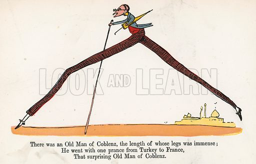 There was an Old Man of Coblenz, the length of whose legs was immense