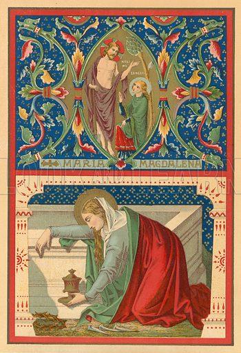 St Mary Magdalen.  Illustration for Butler's Lives of the Saints (Virtue, c 1870).