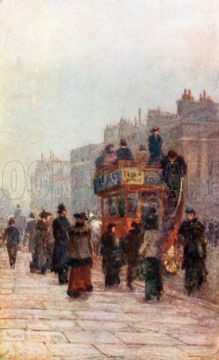 Hammersmith 'Bus. Illustration for Familiar London (A&C Black, 1904).