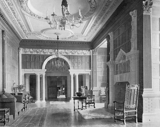 The Hall, looking East. Photograph for In English Homes Vol II (Country Life, 1907).