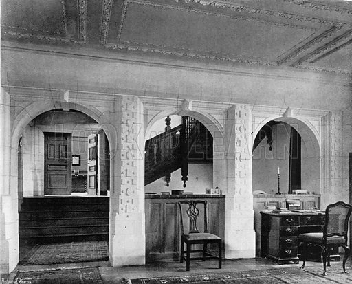 Staircase from Billiard-Room. Photograph for In English Homes Vol II (Country Life, 1907).
