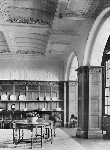 Part of the Dining-Room. Photograph for In English Homes Vol II (Country Life, 1907).