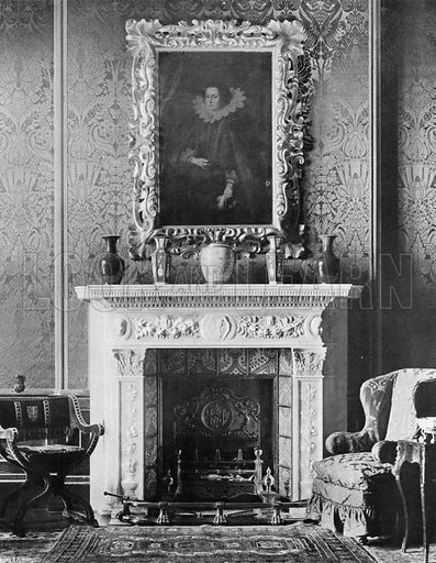 The Ante-Library. Photograph for In English Homes Vol II (Country Life, 1907).