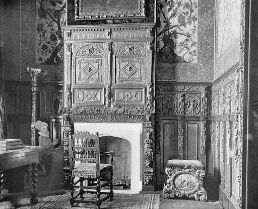 Ante-Room of Saloon. Photograph for In English Homes Vol II (Country Life, 1907).