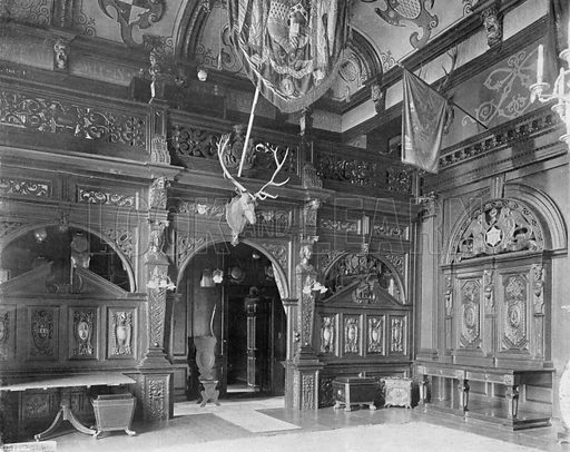 The Hall Screen. Photograph for In English Homes Vol II (Country Life, 1907).