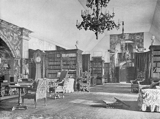 The Titchfield Library. Photograph for In English Homes Vol II (Country Life, 1907).