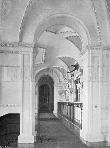 Upper Corridor. Photograph for In English Homes Vol II (Country Life, 1907).