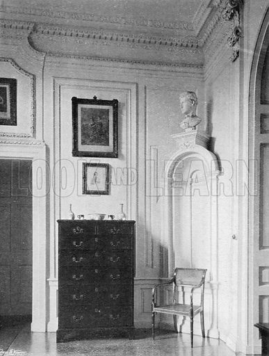 A Lobby. Photograph for In English Homes Vol II (Country Life, 1907).