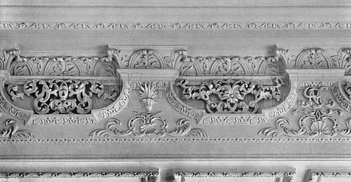 Section of Frieze, West Drawing-Room. Photograph for In English Homes Vol II (Country Life, 1907).