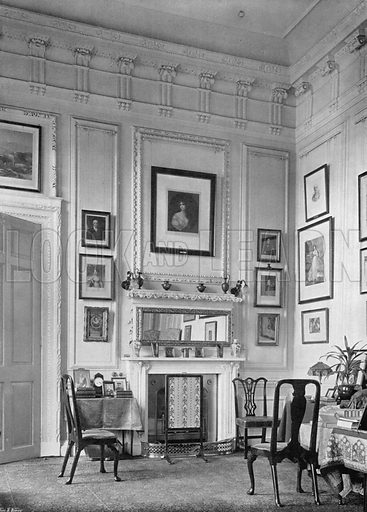 The Smoking-Room. Photograph for In English Homes Vol II (Country Life, 1907).