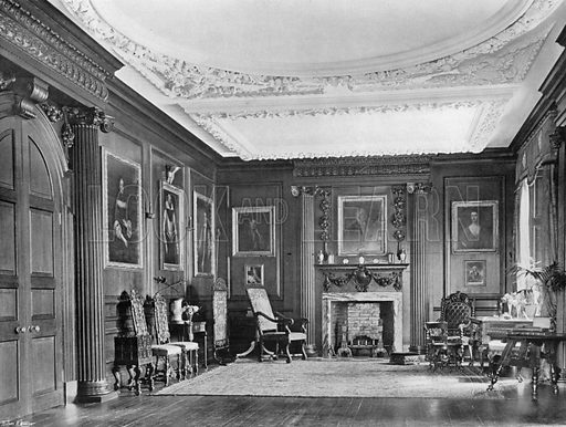 Entrance Hall. Photograph for In English Homes Vol II (Country Life, 1907).