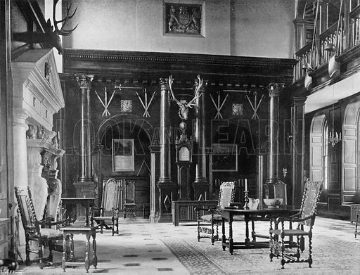 Screen in the Hall. Photograph for In English Homes Vol II (Country Life, 1907).