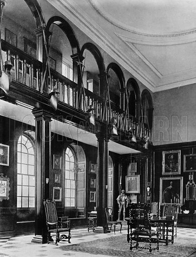 The Hall Gallery. Photograph for In English Homes Vol II (Country Life, 1907).