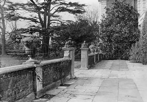 Lead Urns, South Terrace. Photograph for In English Homes Vol II (Country Life, 1907).