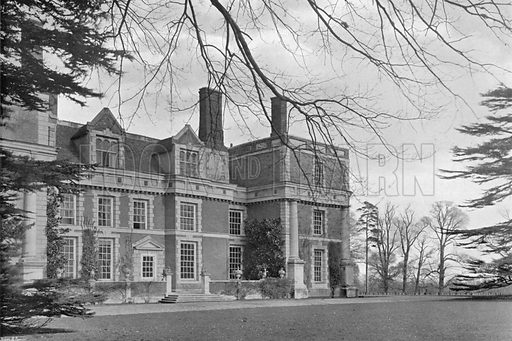 Part of the South Front. Photograph for In English Homes Vol II (Country Life, 1907).