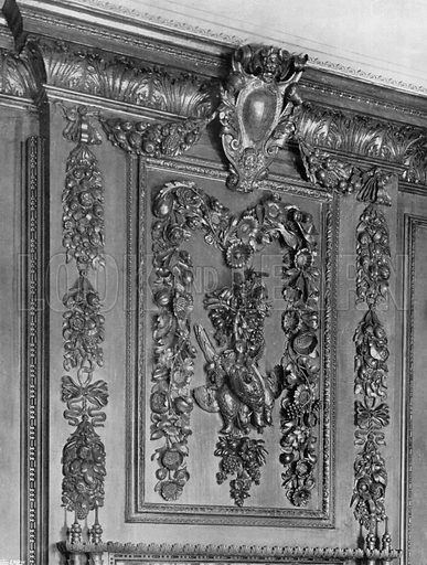 By Grinling Gibbons. Photograph for In English Homes Vol II (Country Life, 1907).