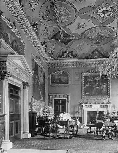 The Saloon. Photograph for In English Homes Vol II (Country Life, 1907).