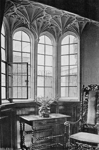 Window in Library. Photograph for In English Homes Vol II (Country Life, 1907).