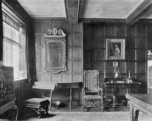 Corner of the Morning Room. Photograph for In English Homes Vol II (Country Life, 1907).