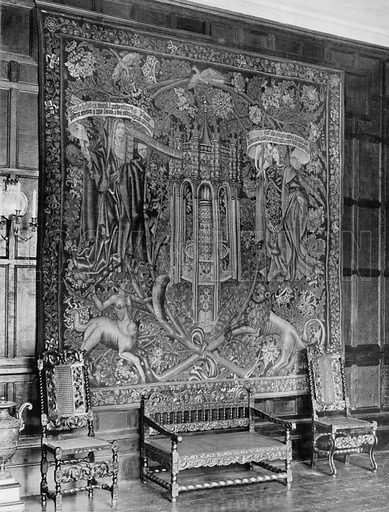 Fifteenth Century Tapestry. Photograph for In English Homes Vol II (Country Life, 1907).