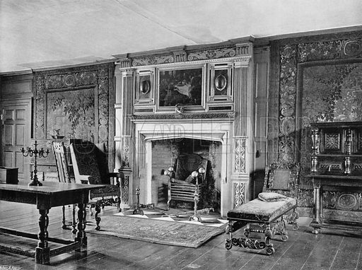 The Tapestry-Room at Rothamsted. Photograph for In English Homes Vol II (Country Life, 1907).