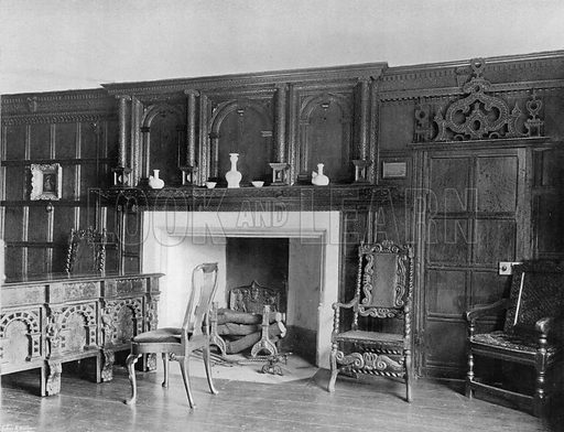 The Oak Room. Photograph for In English Homes Vol II (Country Life, 1907).