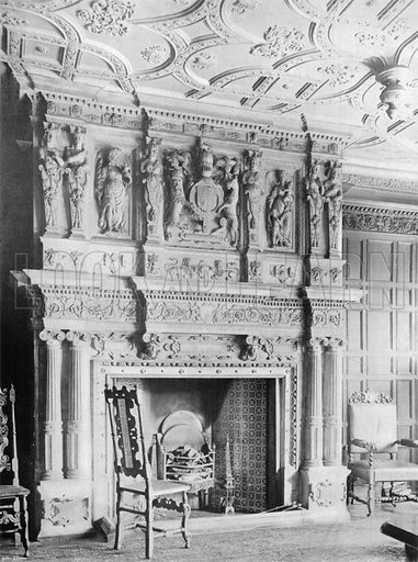 The Great Fireplace. Photograph for In English Homes Vol II (Country Life, 1907).