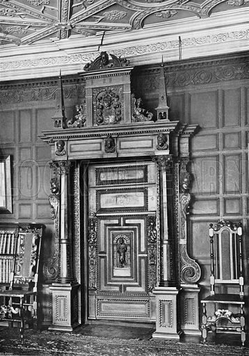 A Doorway. Photograph for In English Homes Vol II (Country Life, 1907).
