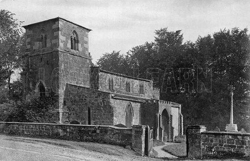 Old Ragdale Church. Photograph for In English Homes Vol II (Country Life, 1907).