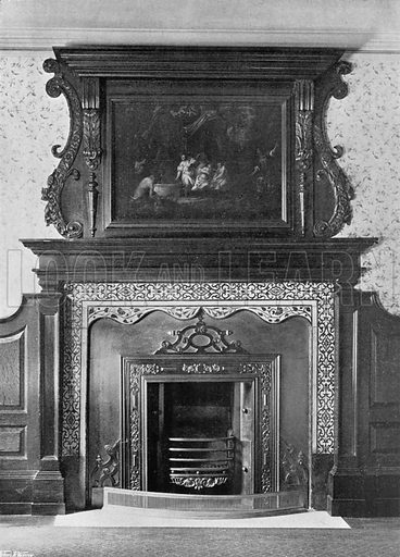 In the Staircase Room. Photograph for In English Homes Vol II (Country Life, 1907).