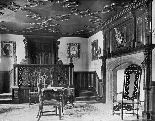 North End of Music-Room. Photograph for In English Homes Vol II (Country Life, 1907).