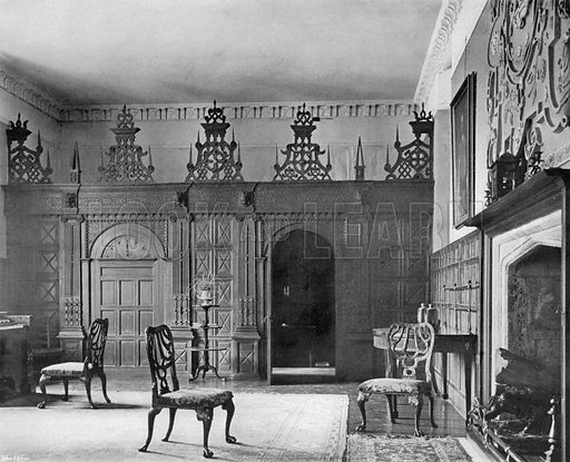 The Hall. Photograph for In English Homes Vol II (Country Life, 1907).