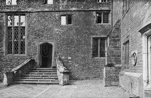 The Courtyard Entrance. Photograph for In English Homes Vol II (Country Life, 1907).