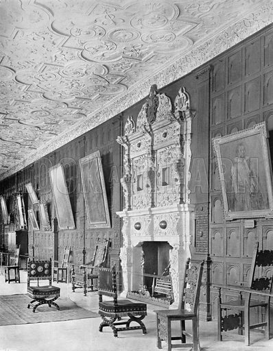 Part of the Long Gallery. Photograph for In English Homes Vol II (Country Life, 1907).