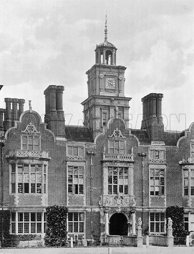 The Clock Turret and Entrance. Photograph for In English Homes Vol II (Country Life, 1907).