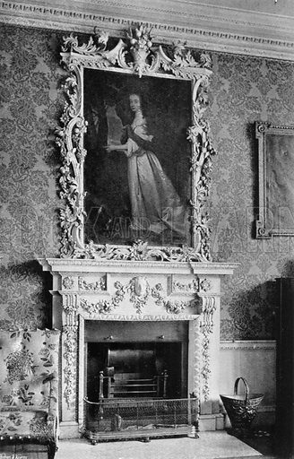 Chimney-Piece in Bedroom. Photograph for In English Homes Vol II (Country Life, 1907).