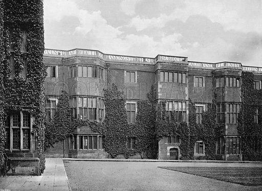 The North Wing. Photograph for In English Homes Vol II (Country Life, 1907).