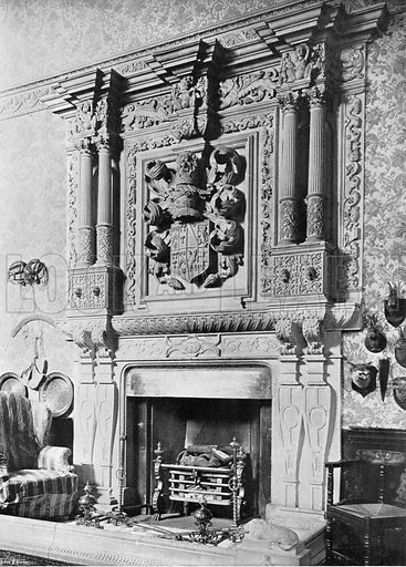 The Chimney-Piece in the Hall. Photograph for In English Homes Vol II (Country Life, 1907).