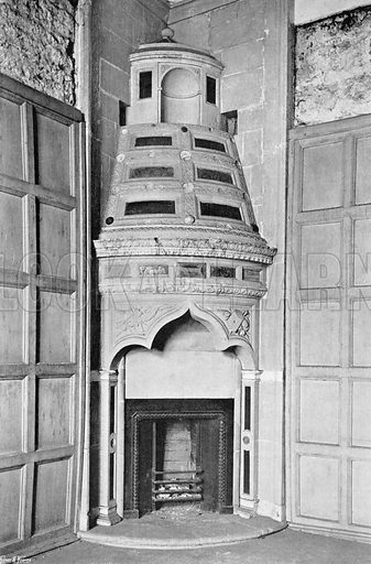 A Corner Chimney-Piece. Photograph for In English Homes Vol II (Country Life, 1907).