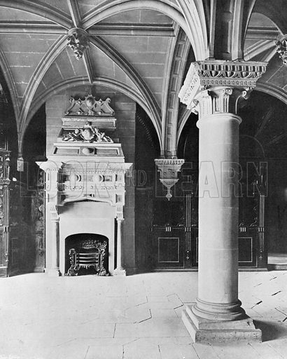 The Pillar-Room. Photograph for In English Homes Vol II (Country Life, 1907).