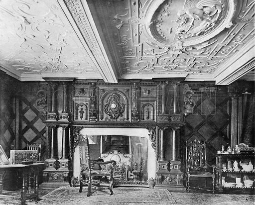 The Old Dining-Room. Photograph for In English Homes Vol II (Country Life, 1907).