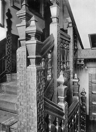The Oak Stairway. Photograph for In English Homes Vol II (Country Life, 1907).