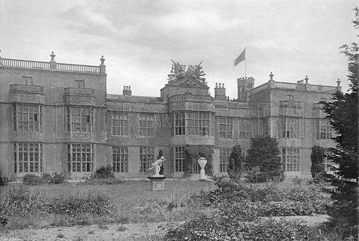 The West Facade. Photograph for In English Homes Vol II (Country Life, 1907).