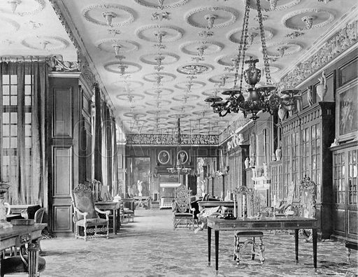 The Long Gallery. Photograph for In English Homes Vol II (Country Life, 1907).