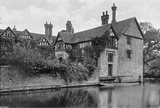 On the Moat. Photograph for In English Homes Vol II (Country Life, 1907).