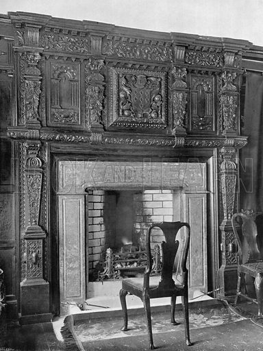Dining-Room Fireplace. Photograph for In English Homes Vol II (Country Life, 1907).