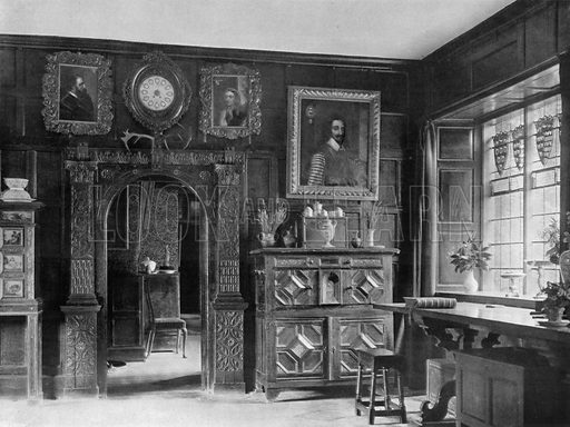 Part of the Old Hall. Photograph for In English Homes Vol II (Country Life, 1907).