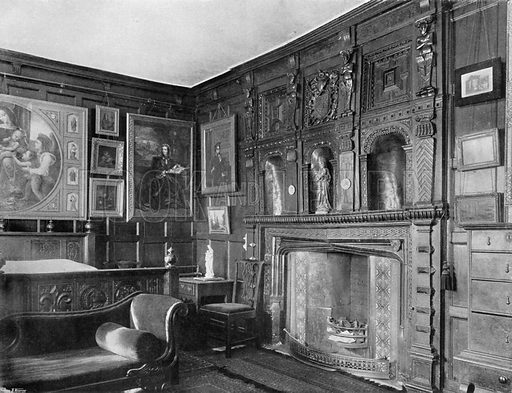 The State Chamber. Photograph for In English Homes Vol II (Country Life, 1907).
