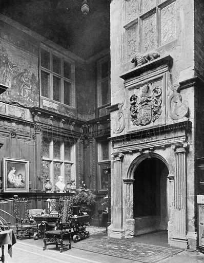 Porch in the Hall. Photograph for In English Homes Vol II (Country Life, 1907).